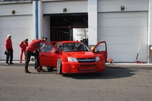 LADA Sport LUKOIL Granta WTCC test