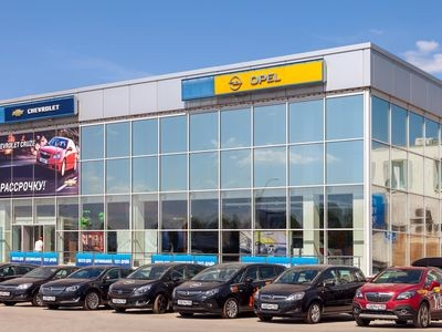 SAMARA, RUSSIA - MAY 24, 2014: Office of official dealer Opel. Opel is a German automobile manufacturer headquartered in Hesse, Germany and a subsidiary of the American General Motors Company