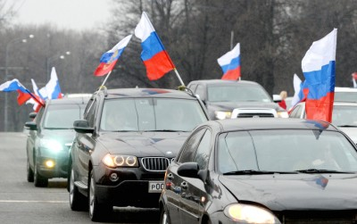 """Автопробег """"Своих не бросаем!"""" в поддержку жителей Крыма"""