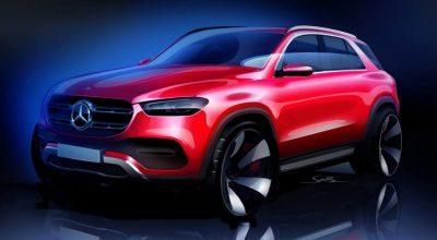Mercedes-Benz распространил в соцсетях тизер нового GLE.  На рисунке у нового Mercedes GLE скрыты дверные ручки, а колесные диски непропорционально велики, но настоящая машина наверняка будет выглядеть иначе.  Новинка была построена на оригинальной платформе МНА. Если верить слухам, то машина получит пружинную подвеску, а в топовой модификации будут установлены пневмобаллоны.  Ожидается, что в линейку моторов кроссовера войдут рядные «шестерки» 3.0 нового поколения, знакомые по другим моделям Mercedes-Benz, а у AMG-версии наверняка сохранится V8. Также у модели может появиться гибридный «довесок» — стартер-генератор, работающий от 48-вольтовой электросистемы.