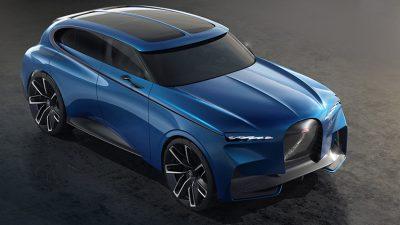 Компания Bugatti может выпустить полностью электрический кроссовер.