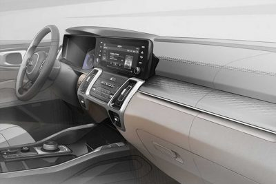 Компания Kia Motors опубликовала новые изображения кроссовера Sorento четвертого поколения.
