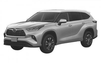 Toyota запатентовала новый Highlander в РФ