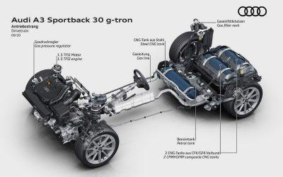 Audi A3 нового поколения получил версию на газе