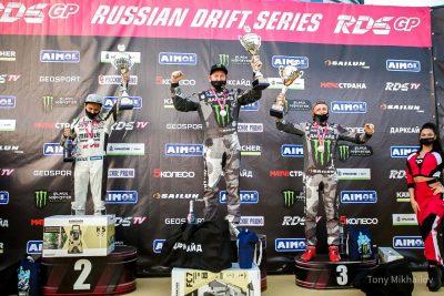 Евгений Лосев, становится победителем этапа RDS GP в Сочи