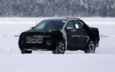 Пикап Hyundai испытали на замерзшем озере
