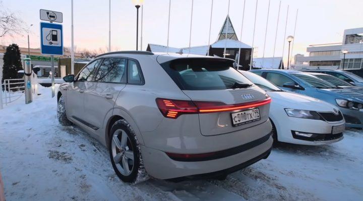 Audi E-tron в МИНУС 31ºC