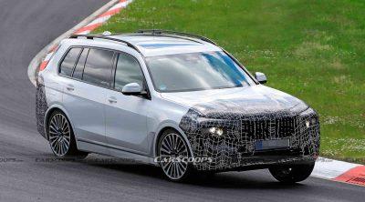 Обновленный BMW X7 был замечен на Нюрбургринге