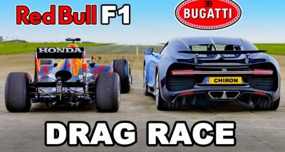 Bugatti Chiron против болида Формулы 1